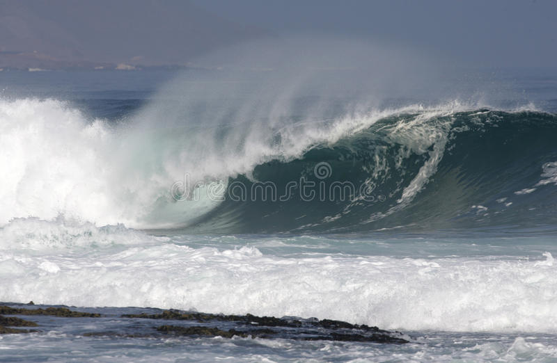 Heavy wave breaking royalty free stock photography