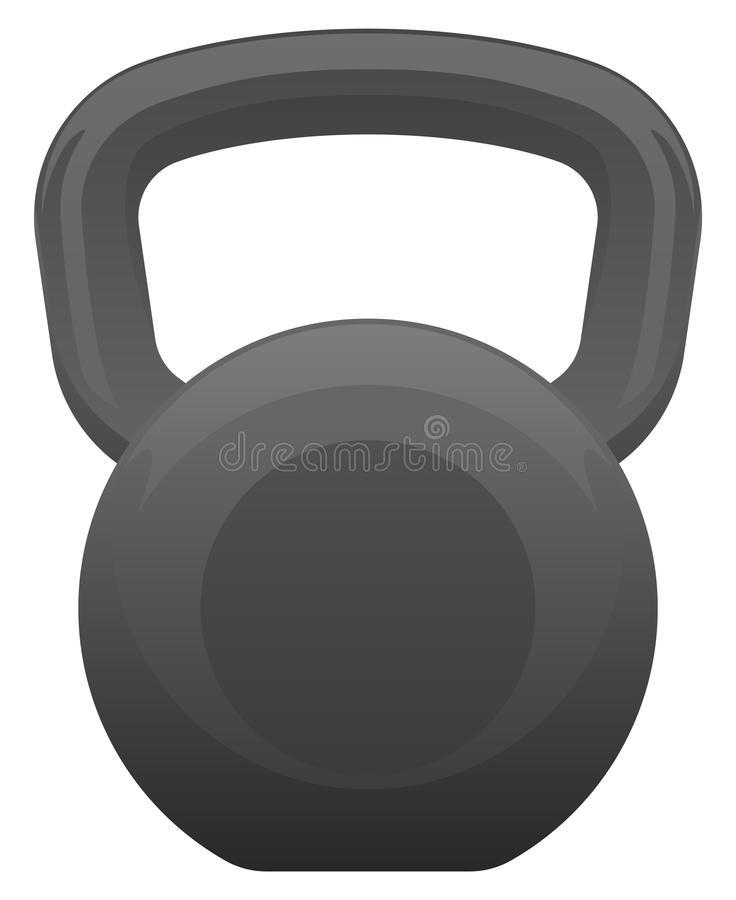Kettlebell Isolated Vector Illustration royalty free stock images