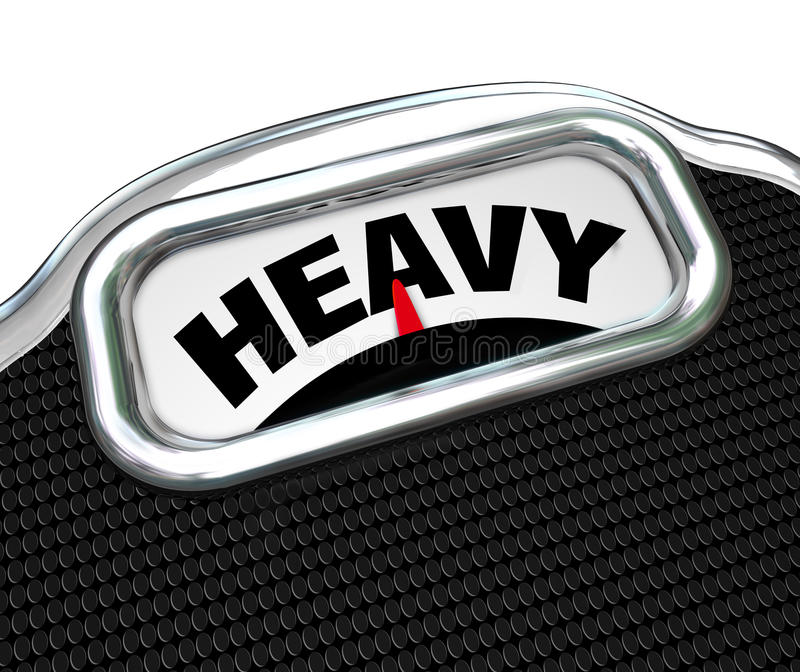 Download Heavy Word On Scale Measuring Weight Or Mass Royalty Free Stock Images - Image: 29537039