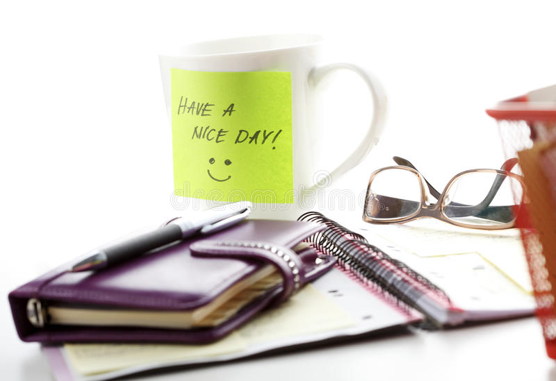 Heb een aardige dag! stock afbeelding