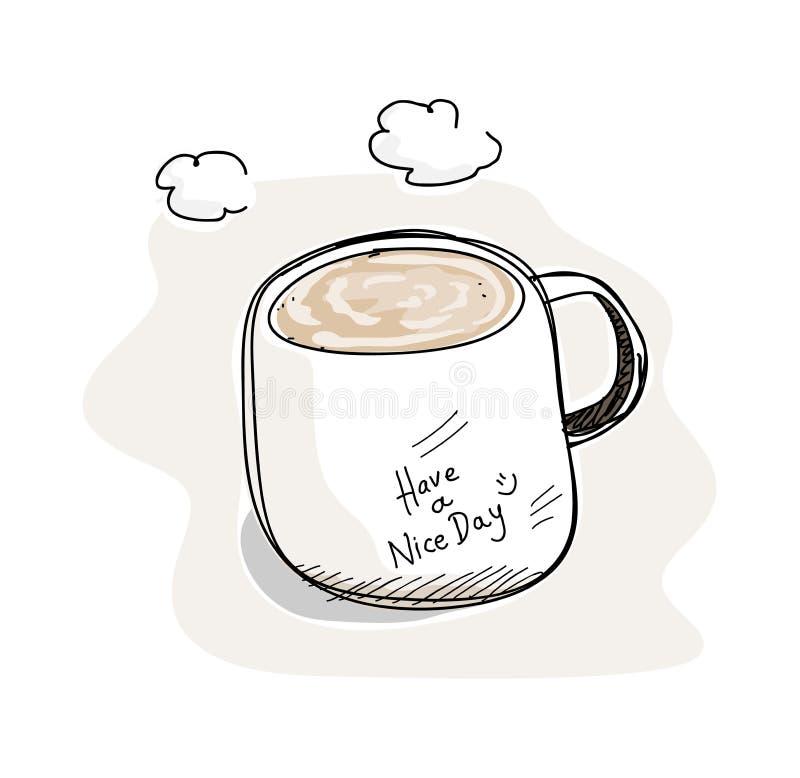 Heb een aardige dag! vector illustratie