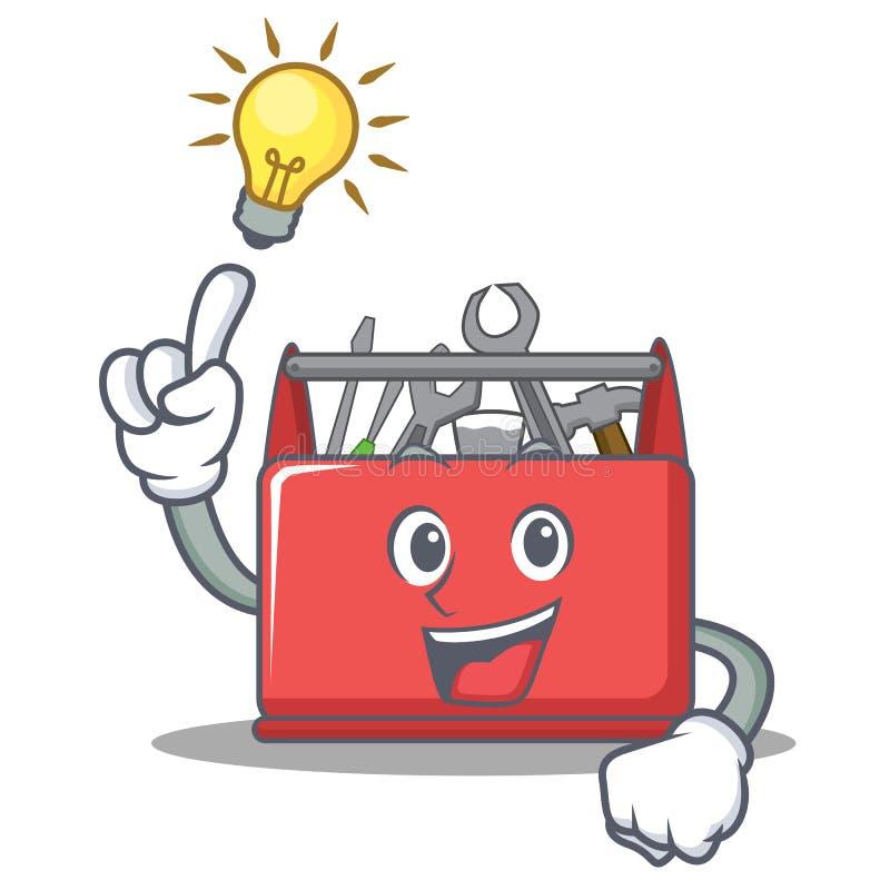 Heb een beeldverhaal van het de dooskarakter van het ideehulpmiddel vector illustratie