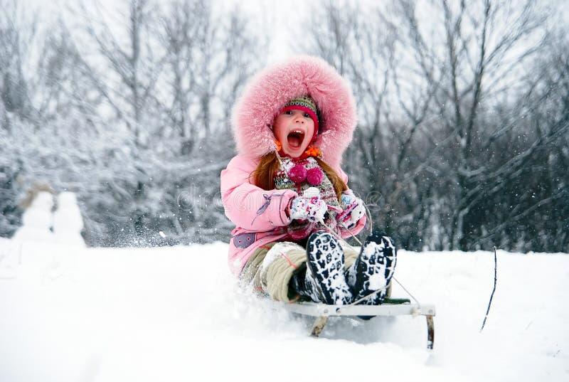 Heb een de winterpret! royalty-vrije stock fotografie