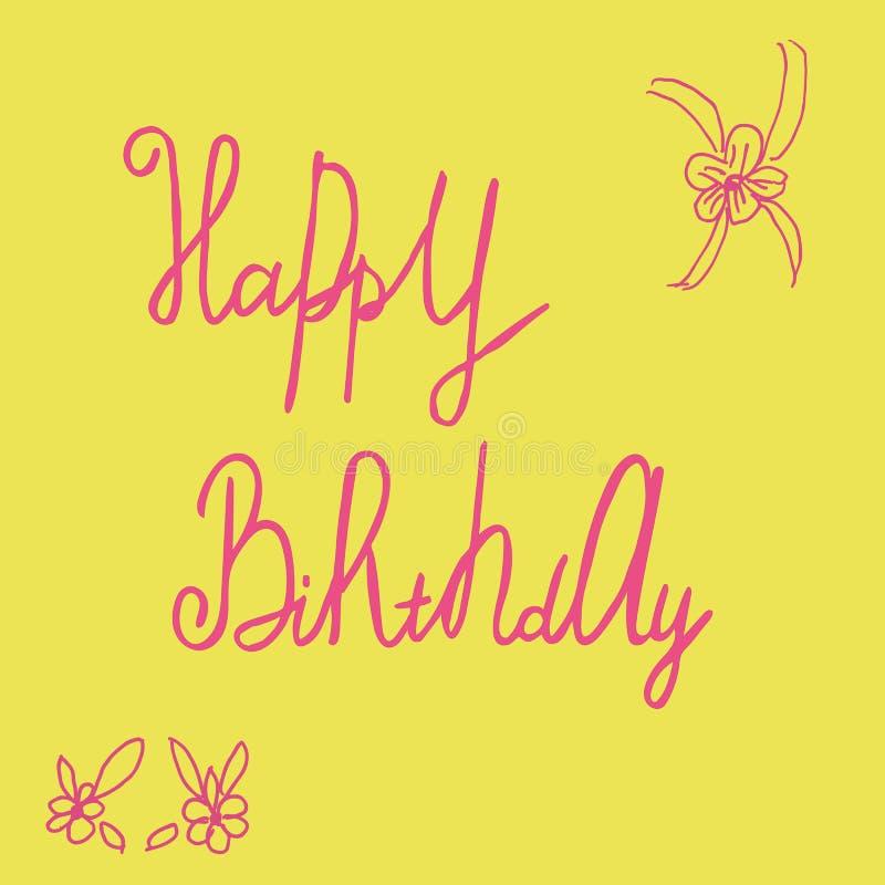 Heb ooit de beste Verjaardag! royalty-vrije illustratie