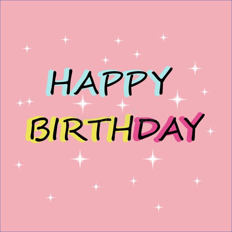 Heb ooit de beste Verjaardag! vector illustratie