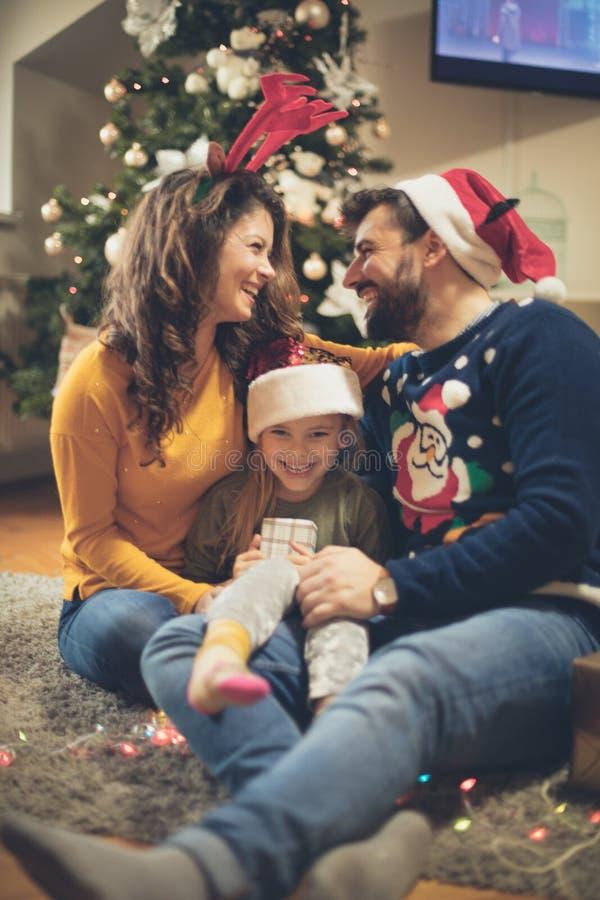 Heb pretbezoek uw huis voor Kerstmisvakantie royalty-vrije stock foto's