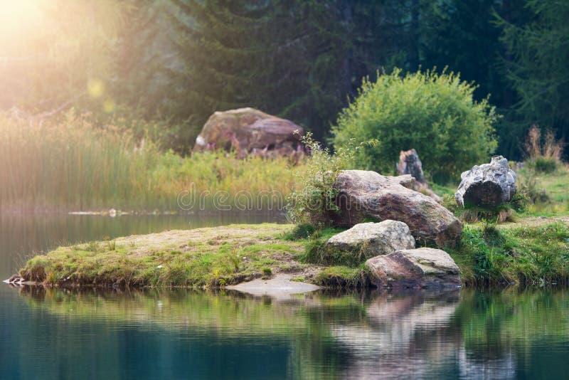 Hebalmsee in styria. Autria in autumn royalty free stock photos
