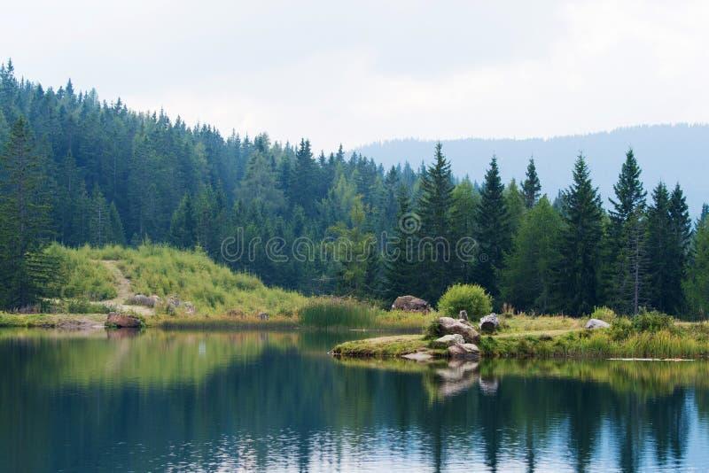 Hebalmsee in styria. Autria in autumn stock photography