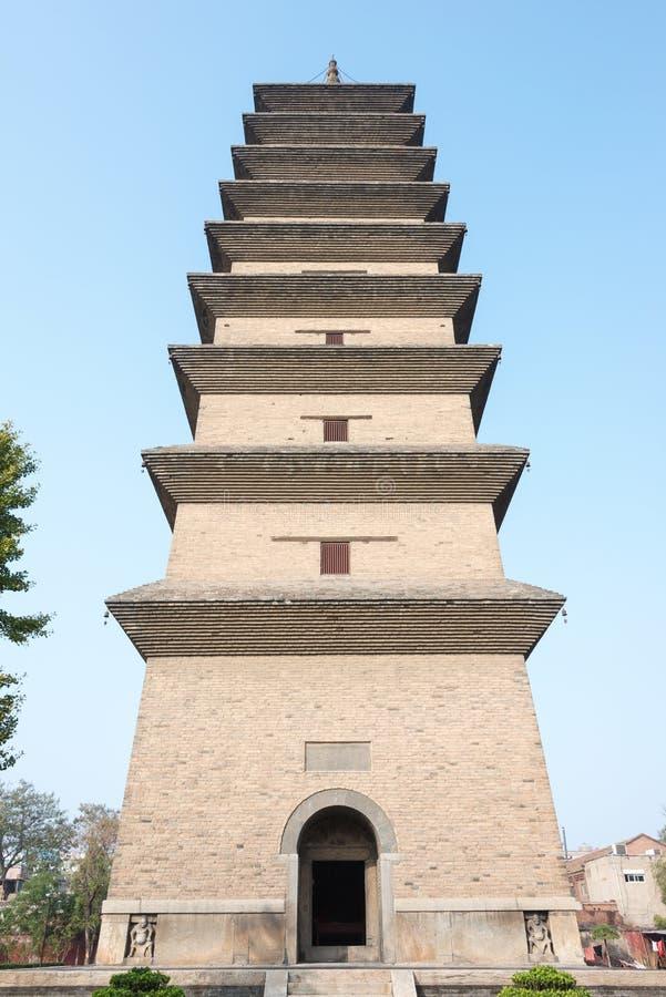 HEBEI, CHINA - 23 de outubro de 2015: Templo de Kaiyuan um si histórico famoso fotos de stock royalty free
