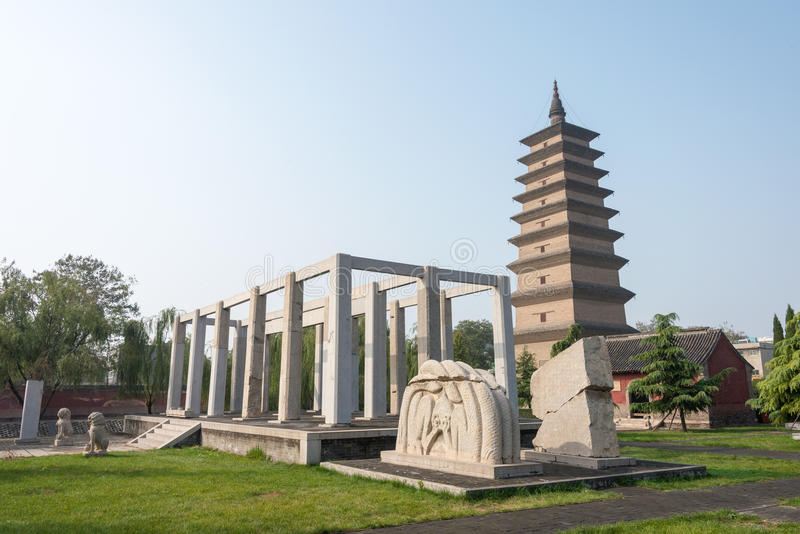 HEBEI, CHINA - Oct 23 2015: Kaiyuan Temple. a famous historic si. Te in Zhengding, Hebei, China stock photo