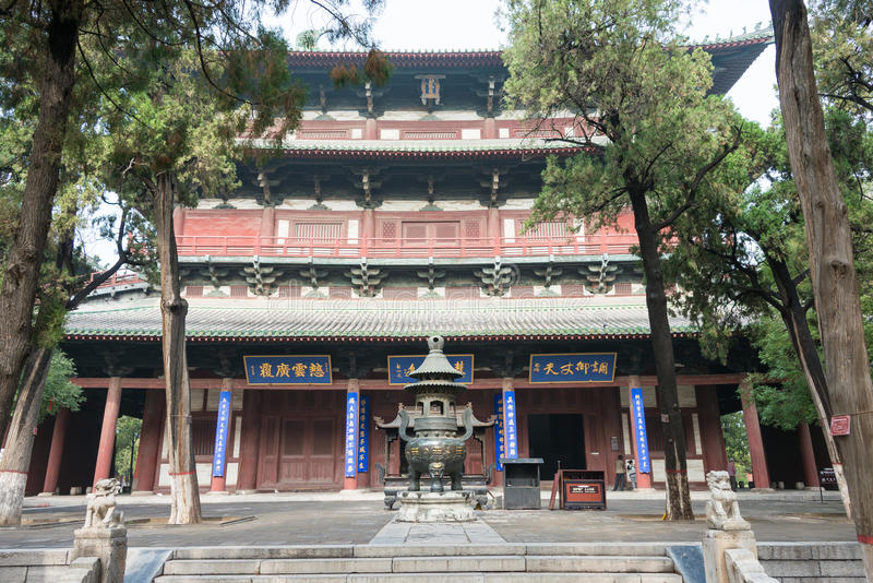 HEBEI, CHINA - Oct 23 2015: Longxing Temple. a famous historic s. Ite in Zhengding, Hebei, China royalty free stock photos