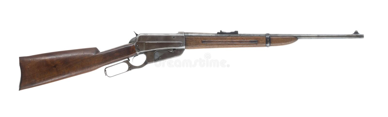 Hebelwirkungs-Gewehr lokalisiert auf weißem Hintergrund-Recht lizenzfreies stockfoto