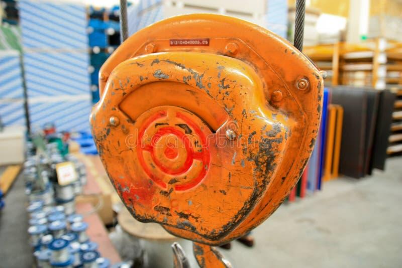 Hebemaschine der Orange stockfotos