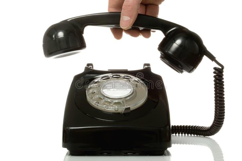 Heben Sie das alte Telefon auf. lizenzfreies stockbild