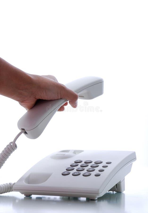 Heben Sie das Telefon auf lizenzfreies stockfoto