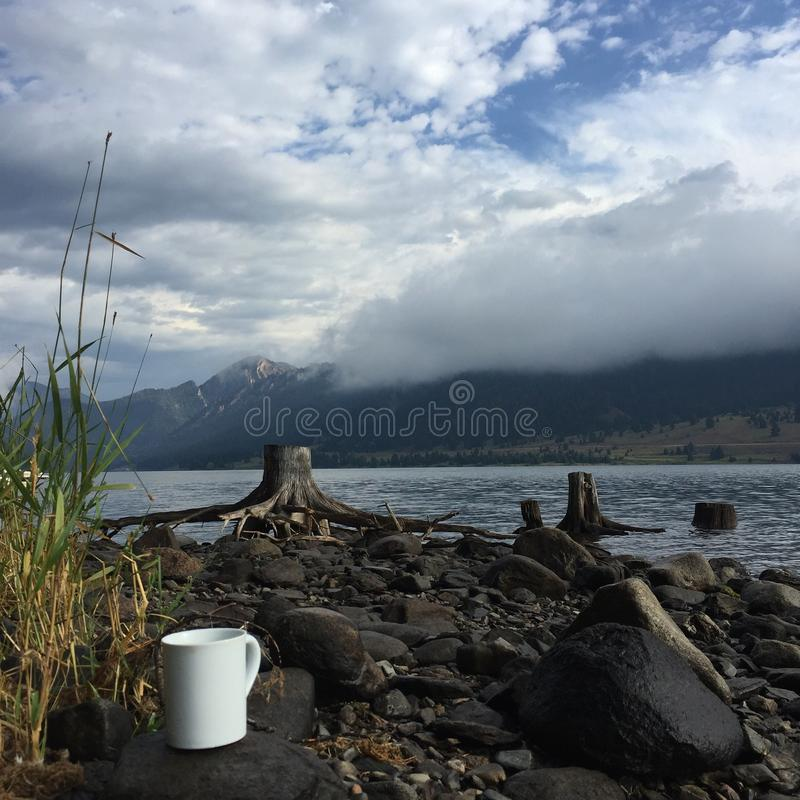 Mountain lake in western Montana royalty free stock photo
