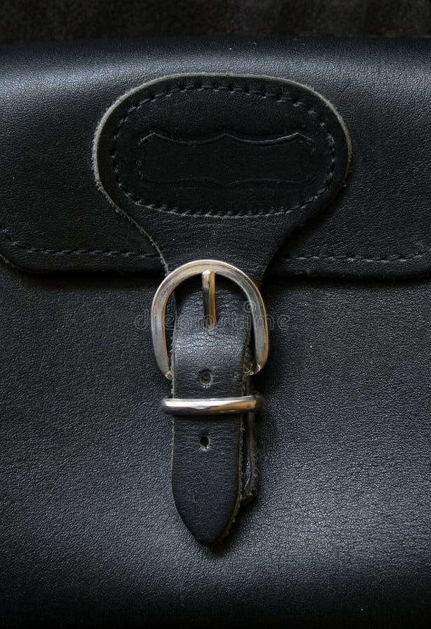 Hebilla en la cartera de cuero foto de archivo libre de regalías