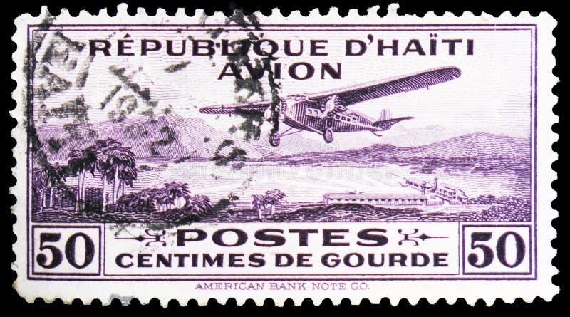 Hebluje nad port-au-prince, seria, około 1929 fotografia royalty free