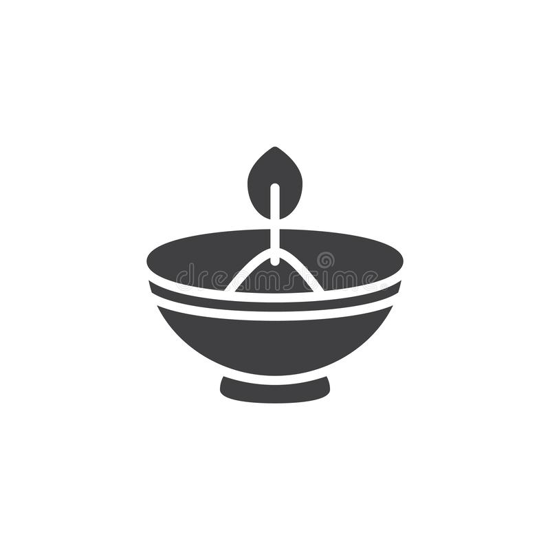Hebrew Candle vector icon. Filled flat sign for mobile concept and web design. Oil lamp simple solid icon. Symbol, logo illustration. Pixel perfect vector vector illustration