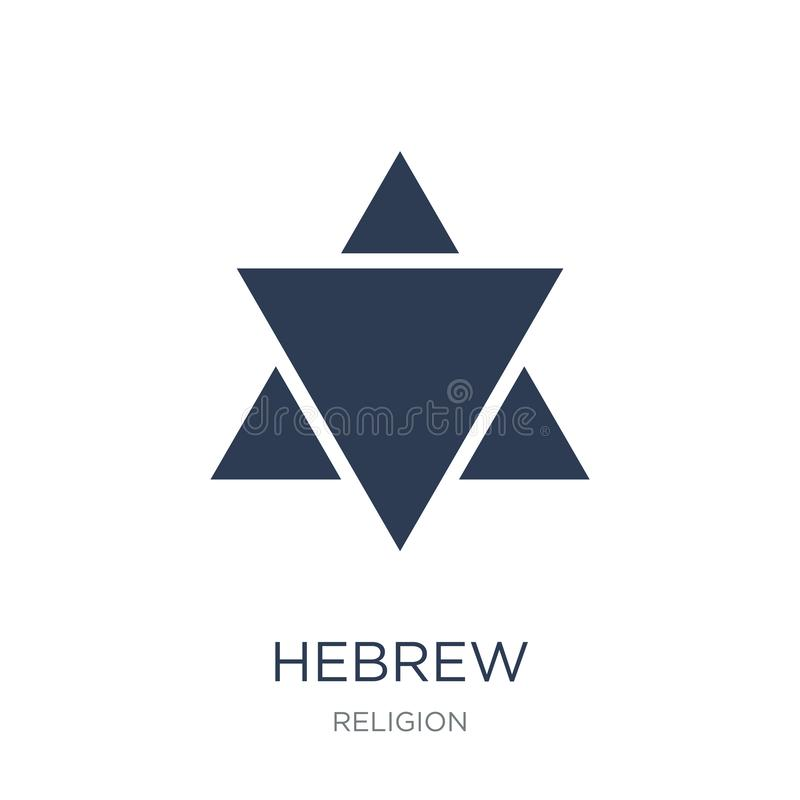 Hebrew icon. Trendy flat vector Hebrew icon on white background. From Religion collection, vector illustration can be use for web and mobile, eps10 royalty free illustration