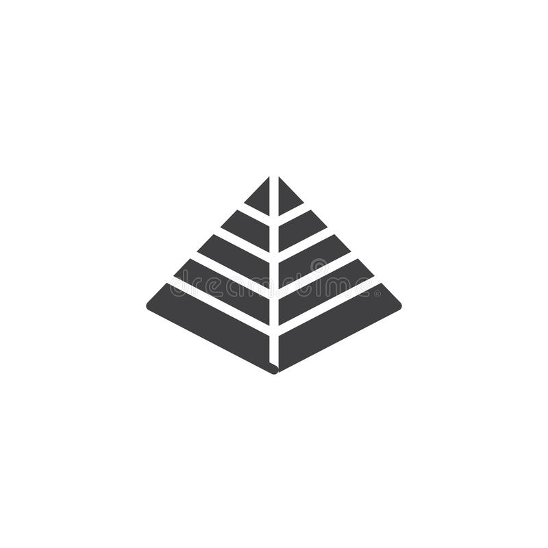 Hebrew Pyramid vector icon. Filled flat sign for mobile concept and web design. Passover simple solid icon. Jewish holiday symbol, logo illustration. Pixel royalty free illustration