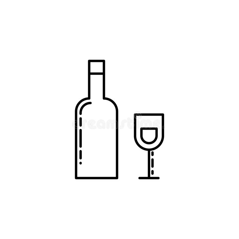 Hebrew Wine icon. Element of Jewish icon for mobile concept and web apps. Thin line Hebrew Wine icon can be used for web and mob royalty free illustration