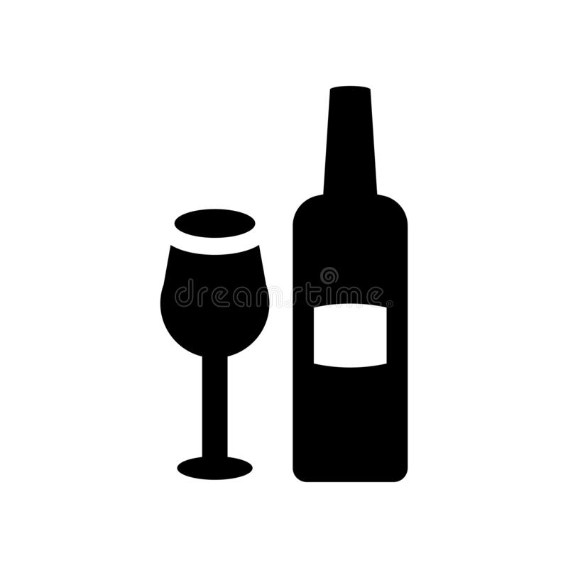 Hebrew Wine icon. Trendy Hebrew Wine logo concept on white background from Religion collection stock illustration
