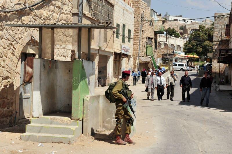Hebron - Israel arkivbild