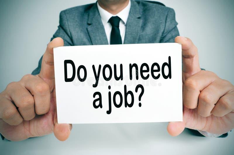 Hebt u een baan nodig royalty-vrije stock foto's