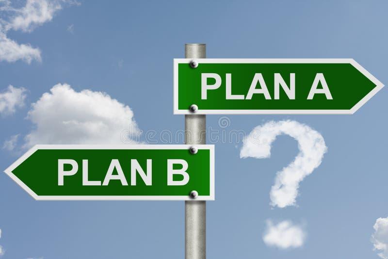 Hebt u een Plan B stock foto