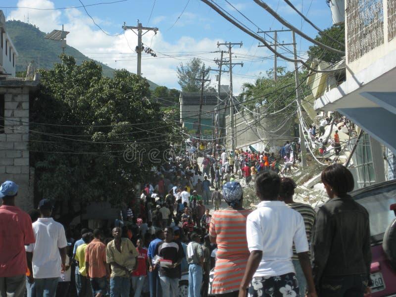 Hecatomb in haiti stock images