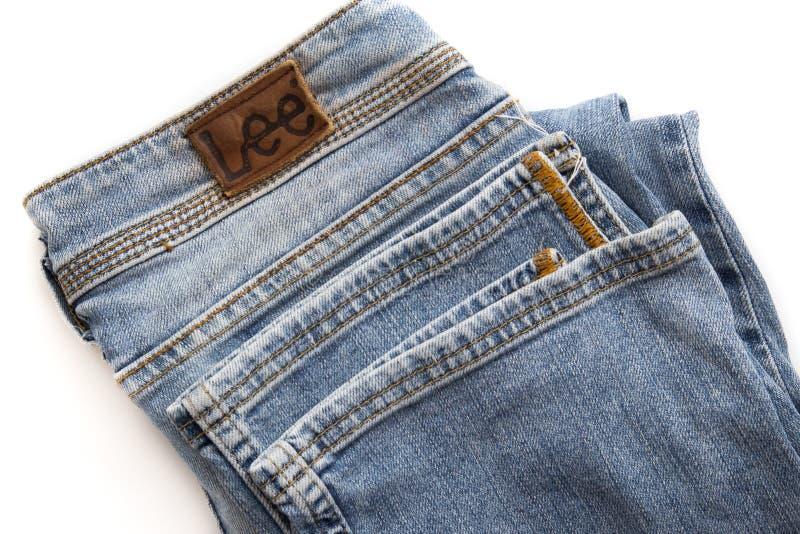 heces dobladas de los pantalones fotografía de archivo libre de regalías