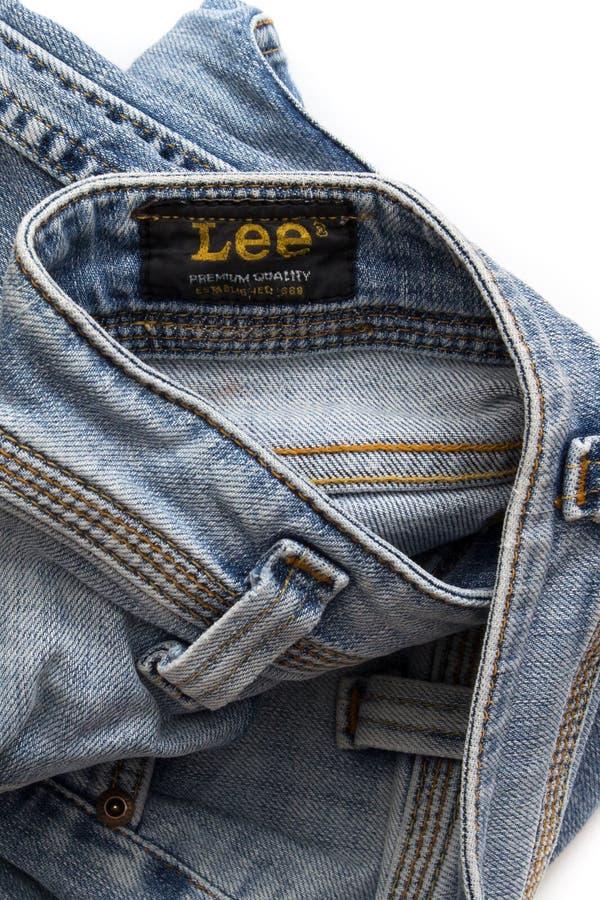 heces dobladas de los pantalones fotos de archivo