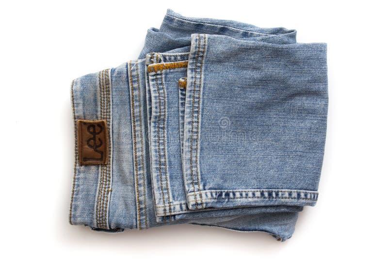 heces dobladas de los pantalones imágenes de archivo libres de regalías