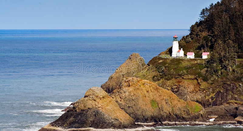 heceta brzegowa kierujcie do latarni morskiej Oregon obraz royalty free