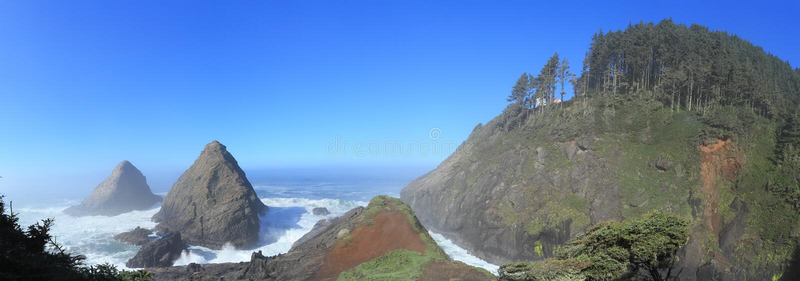 Heceta Head Light. Is a lighthouse located on the Oregon Coast 13 miles north of Florence, Oregon and 13 miles south of Yachats, Oregon, United States stock photography