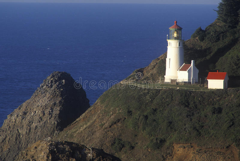 Heceta Head Lighthouse at Heceta Head State Park, OR royalty free stock photography