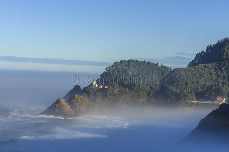 Heceta Head Lighthouse , Oregon. One of the most beautiful lighthouses in the world - Heceta Head Lighthouse , Oregon, USA royalty free stock images