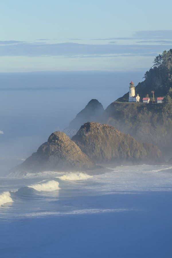 Heceta Head Lighthouse , Oregon. One of the most beautiful lighthouses in the world - Heceta Head Lighthouse , Oregon, USA stock image