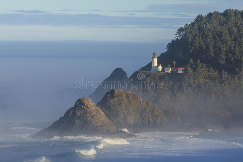 Heceta huvudfyr, Oregon royaltyfria bilder