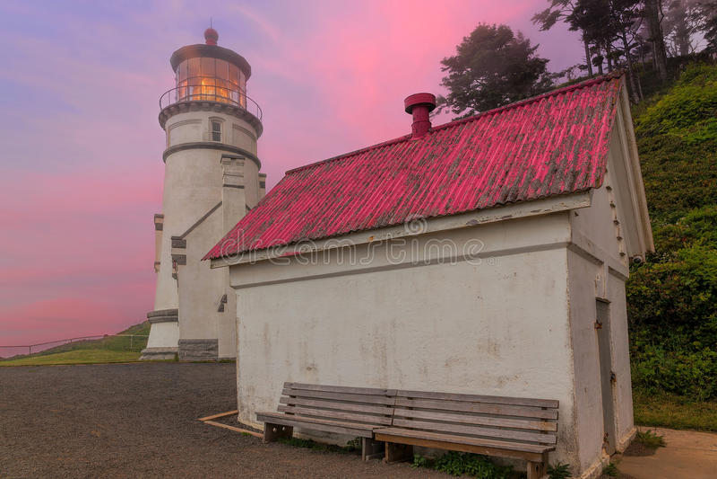 Heceta-Kopf-Leuchtturm in Oregon lizenzfreie stockfotografie