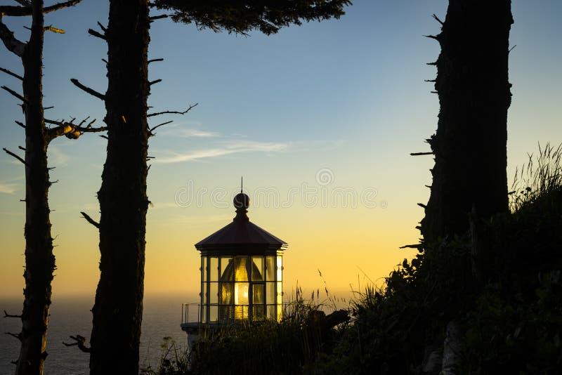 Heceta-Kopf-Leuchtturm, Oregon lizenzfreie stockfotos