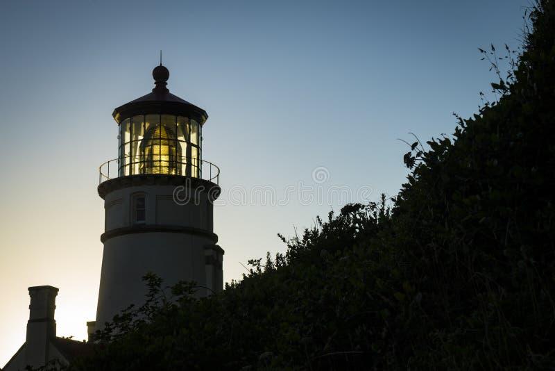 Heceta-Kopf-Leuchtturm, Oregon lizenzfreie stockfotografie