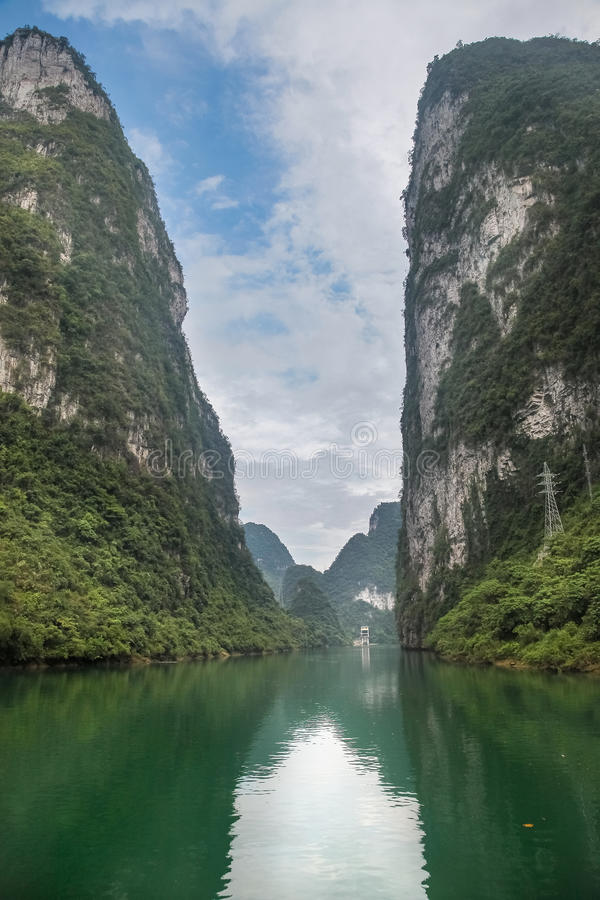 Hechi small Three Gorges stock images