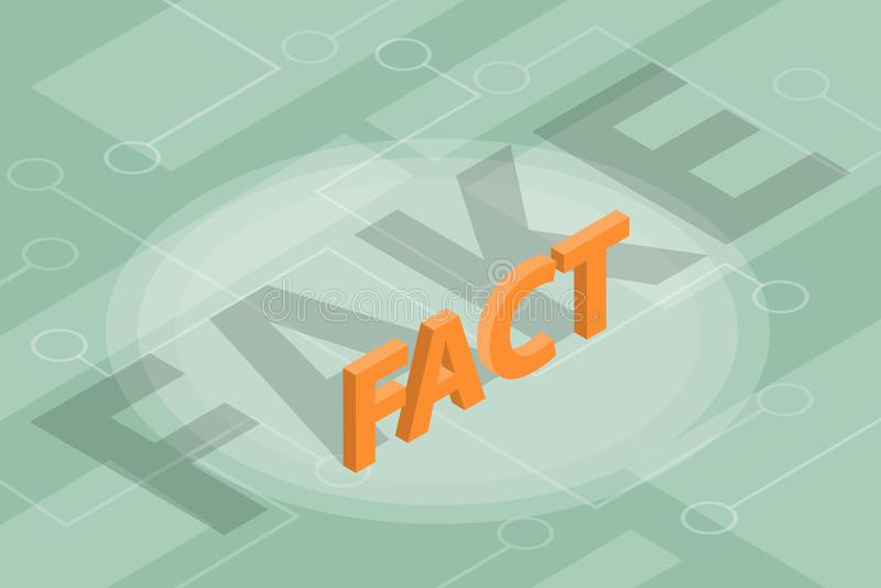Hecho contra el ejemplo falso del nuevo concepto con isométrico libre illustration