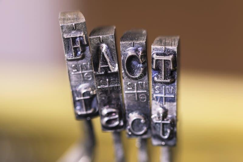 HECHO de la máquina de escribir foto de archivo libre de regalías