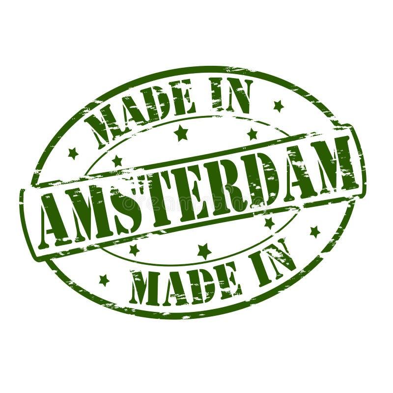Hecho en Amsterdam stock de ilustración