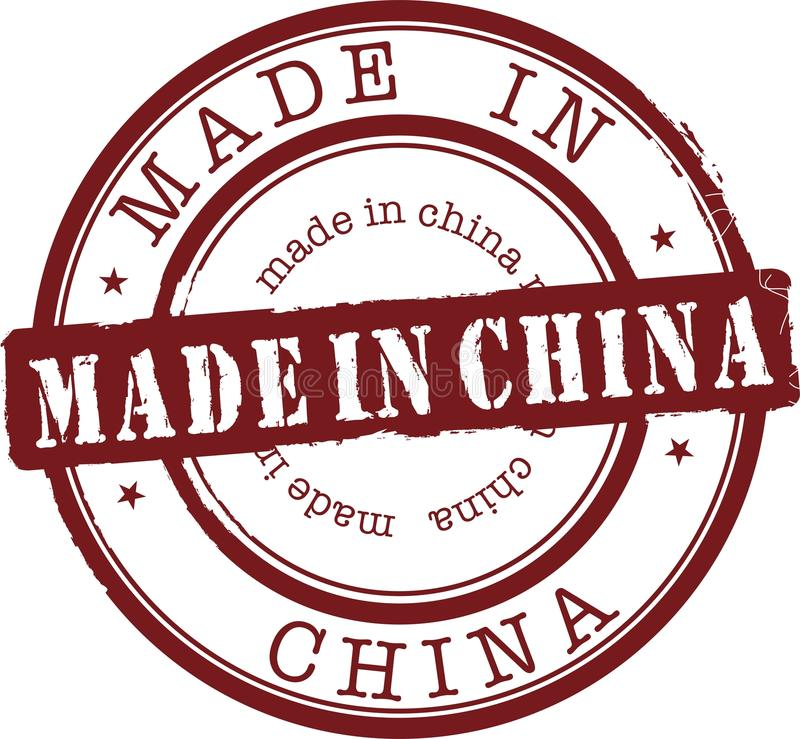 Hecho en China stock de ilustración