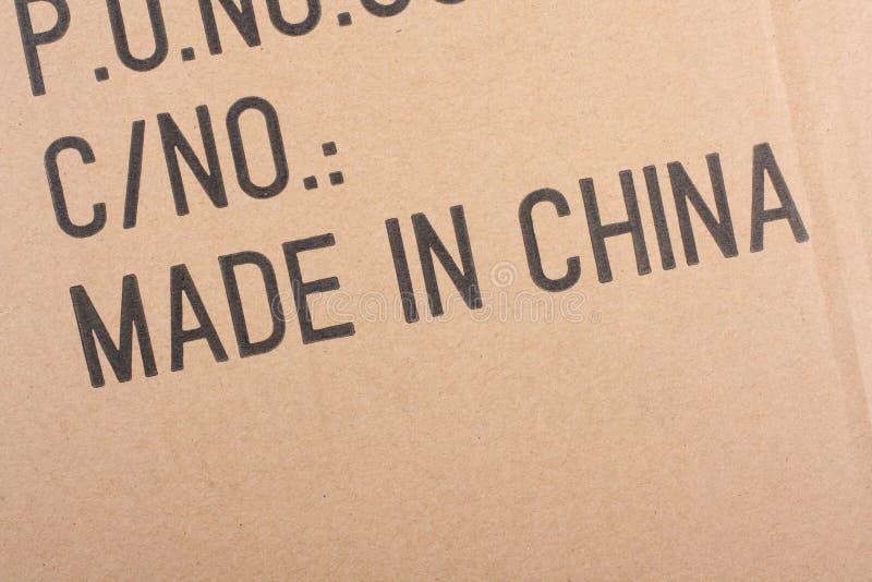Hecho en China imagenes de archivo