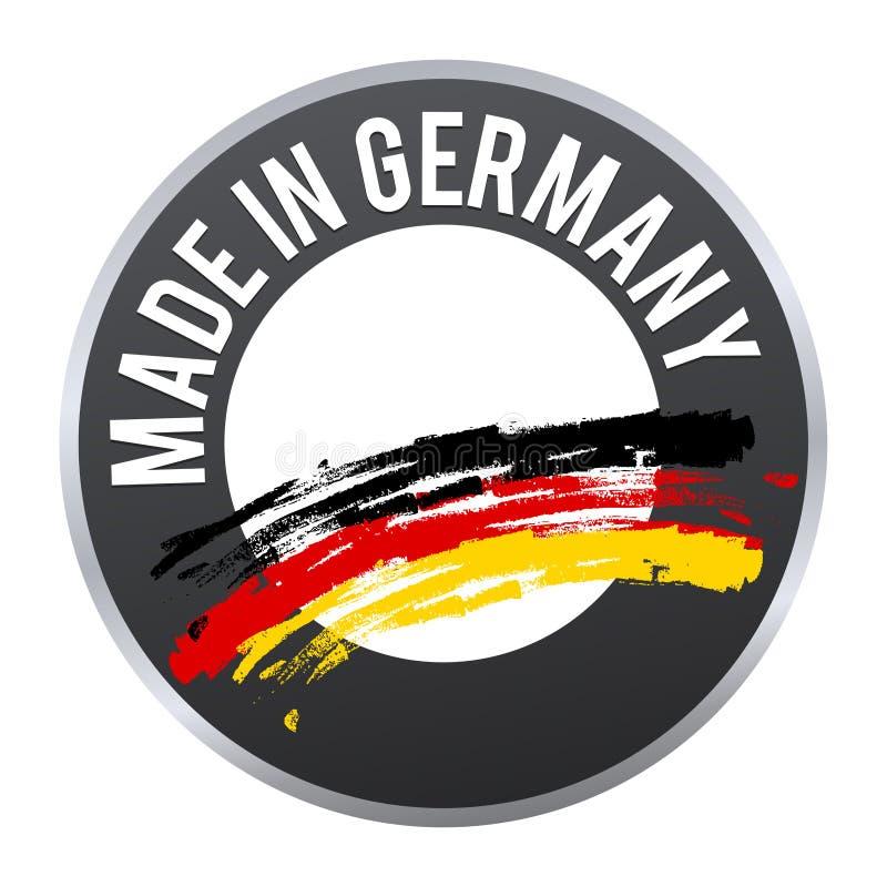 Hecho en el logotipo de la insignia de la etiqueta de Alemania certificado libre illustration